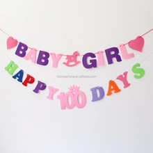 Custom Birthday/Wedding/Party Decorations Flags Paper Bunting Banner letter banner