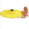 Cat Meow Undercover Fabric Moving Mouse Cat Play Toy As Seen on TV Yellow