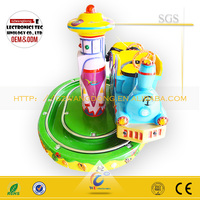 Little train rotating game/coin operated game machine for kids ride