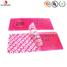 Tamper proof void sticker wholesale security label / PET custom logo warning stickers with VOID