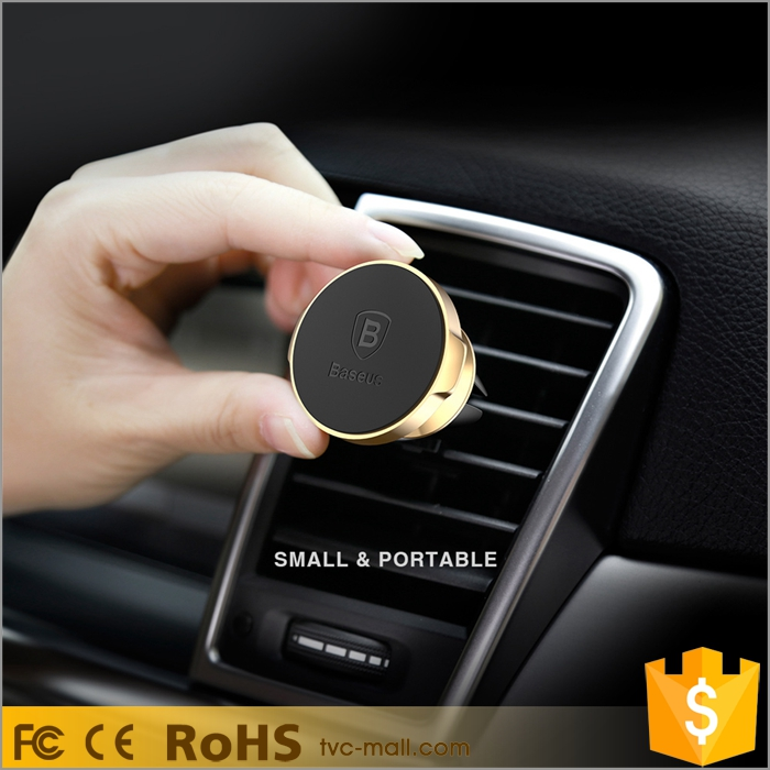 BASEUS Magnetic Ring 360 Degree Rotation Air Vent Car Mobile Phone Holder
