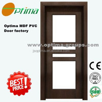 pvc interior door with glass