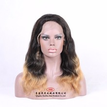 High density factory price 100% human hair ombre human hair wig