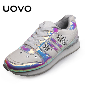 fancy pu upper wedge women fashion sneaker shoes