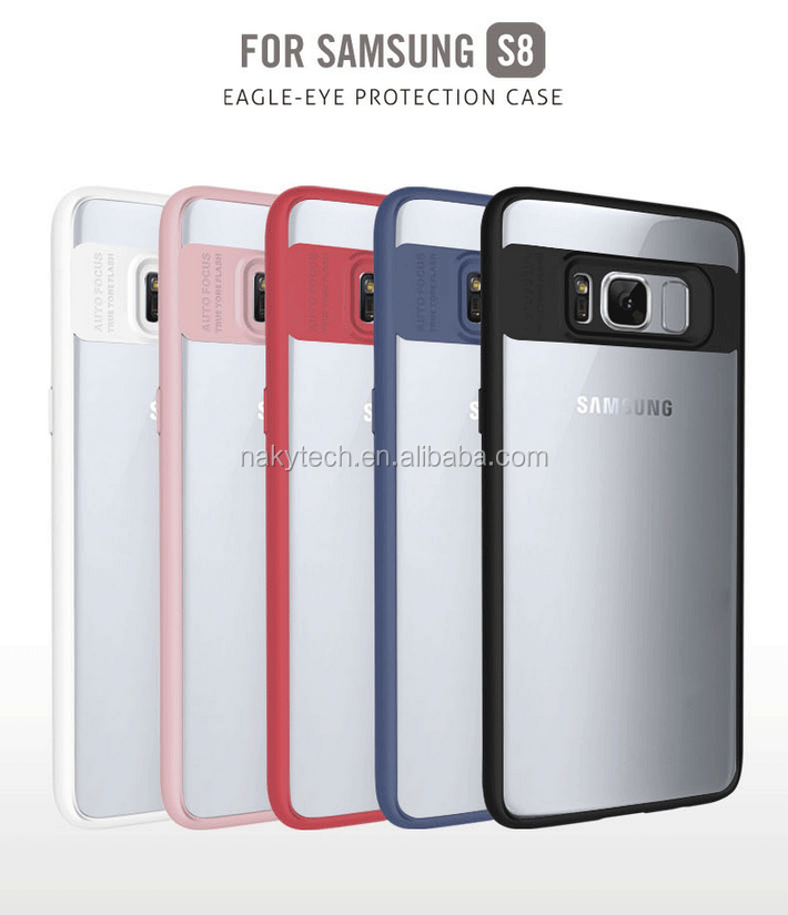 Newest fashion colors TPU+PC bank eagle-eye mobile phone case for Samsung S8/S8 plus