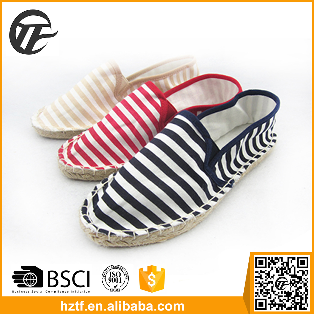 2016 China manufacture custom new style woman canvas shoe