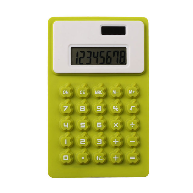Colorful Middle Size Silicone Rubber Calculator Folding Calculator with 8 Digits