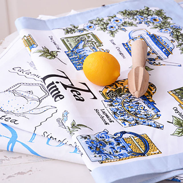 china suppliers wholesale cotton colling kitchen tea towel with mulit-colours and patters
