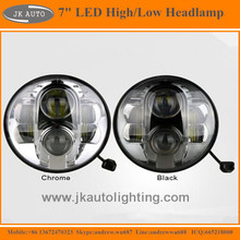 "High Quality 7"" LED Headlamp for Land Rover Defender 90 Super Bright Round LED Head Lights for Land Rover Defender 90 1994-1995"