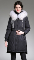 Wholesale Fashion Winter Down Coat Jacket With Raccoon Fur For Lady