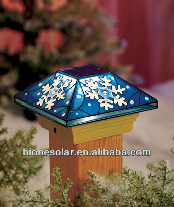 5 Quot Mission Christmas Solar Fence Post Cap Buy Solar