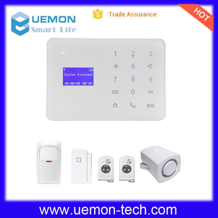 2016 Smart home GSM 900/1800/1900MHZ Wireless Burglar Security Alarm System
