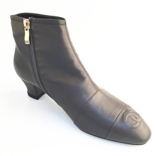 Hot sale Classic Style Sex And Luxury Low Heel Lady's Black Ankle Boots