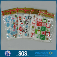 8-Pack Frosted Christmas Holiday cellophane Bakery/Cookie Bags