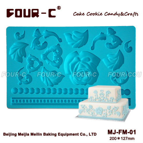 Baroque silicone fondant mould,sugarpaste mould