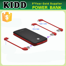 Built in cables mobile phone power bank 10000mAh