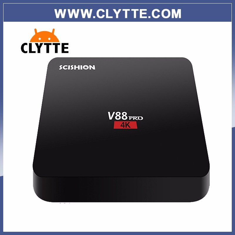 5PCS V88 pro CLYTTE Android 6.0 TV BOX Inteligente Amlogic 4 <strong>K</strong> H.265 2 GB DDR3 de 16 GB eMMC 2.4G WiFi Set Top box