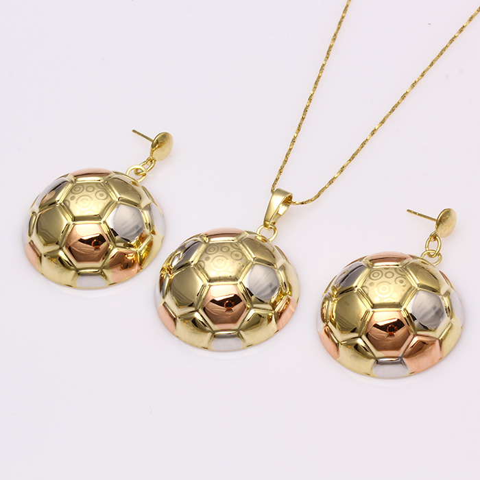 61918 Hot Sale stylish fake Jewelry multicolor Gold Plated Jewelry Set without stone