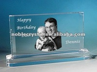 Cutomer Crystal Block As Crystal Birthday Gifts for Dad