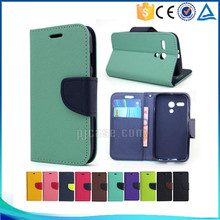 Best quality mix color wallet style flip leather case cover for wiko rainbow jam