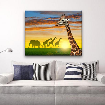 Simple giraffe wild animal pictures for fabric painting designs