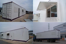 Prefabricated mobile container warehouse
