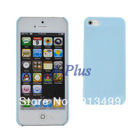New Fashion Blue Color Slim TPU GEL hard Case Cover skin protector Case for iphone 5 5S 10433
