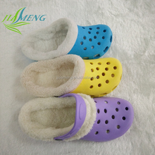 Injection new fashionable design winter warm eva clogs for beach and promotion