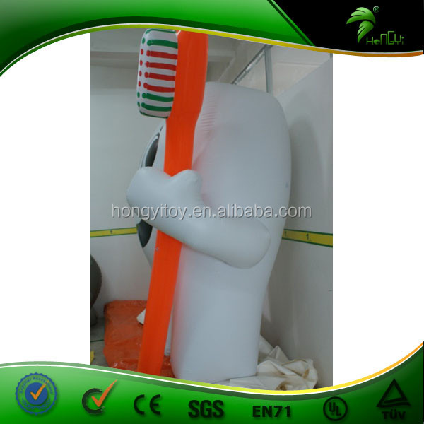 Giant Tooth with Brush Modeling Inflatable Helium Ball for Dentist Clinic Custom Shape Advertising Balloon
