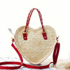 Heart Summer promotional beach bags, leather shoulder straps bag beach(SWTJU1615)