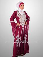 moroccon abayas designs New Embroidered Kaftan Islamic Dress Jilbab , Hijab,arabic dubai abaya caftan style prom dress k1240