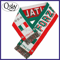 World Cup knitting jacquard scarf men for people