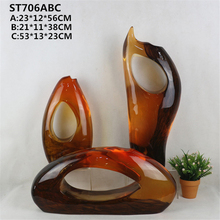 Beaitiful painting resin indoor sculpture artificial glass unique polished figurine
