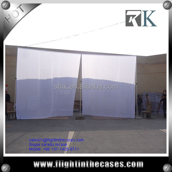 Pipe and Drape Curtains Pipe and Drape System Portable and Telescopic