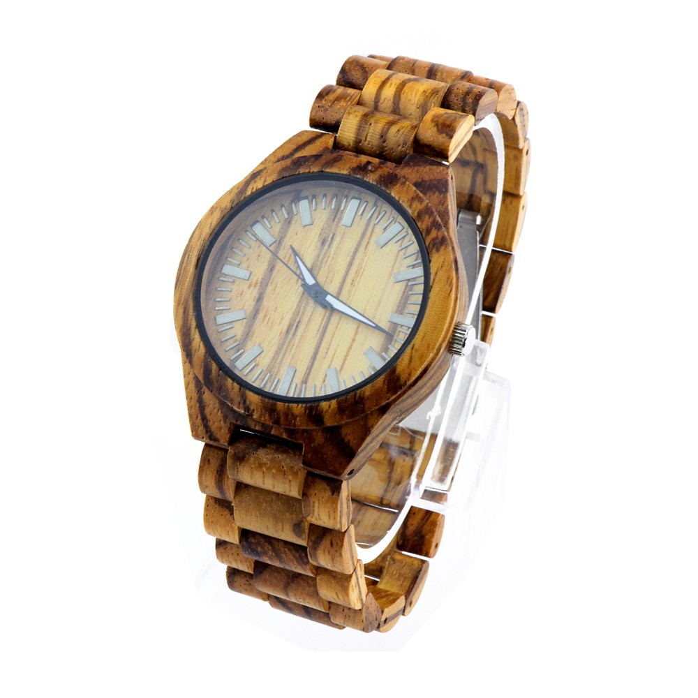 grain original wood rosewood steel watch watches natural all stainless