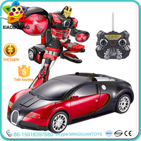 Top quality plastic 2.4G rc drift car change robot toy for promotion