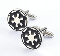 2016 the newest design diamond shell cuff links for bestman