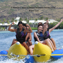 Summer Water Sport 6 Seats Inflatable Flying Banana Boat Flying Fish For Sale
