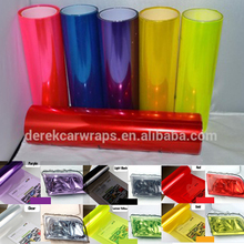 0.3*10m Manufactory Directly Seling Colorful Car Wrap Up to 3 years Durability Car Headlight Tint Film