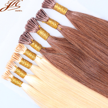 "20"" Remy 100% Human Hair Extensions Keratin Stick I Tip Silky Straight"