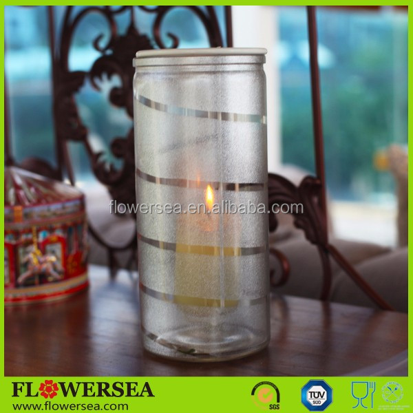Flowersea innovative design cheap wedding centerpieces and Christmas decor tall cylinder glass candle holder