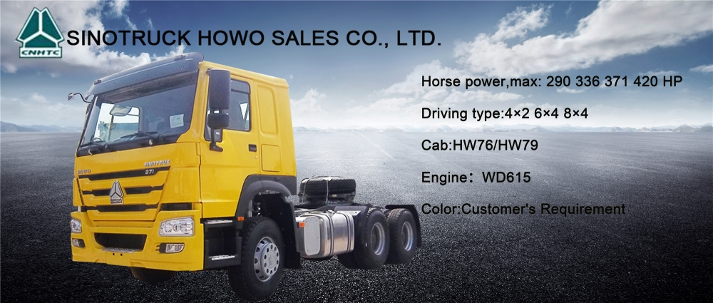 SINOTRUK howo automat transmiss 6x4 420HP tractor head tractor truck