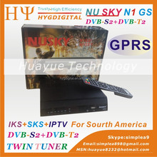 Nusky N1GS DVB-S2+ISDB-T or DVB-T2 Combo HD FTA IKS SKS Free for South America Support youtube tocomfree s929 azamerica s1001
