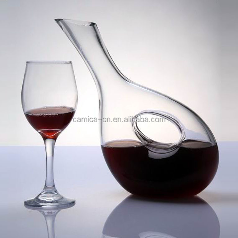 Unqiue Clear Hand made Glass Wine Decanter