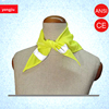 New Style 120g Knitted Cloth Printed Logo Yellow High Reflective Triangular Scarf