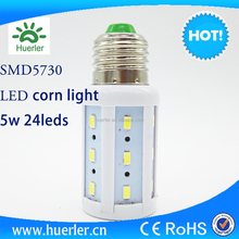 Epistar 5730 smd led 5w laser diode led corn lamp e27 christmas led light
