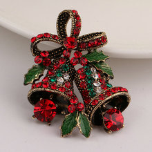 Liaobao BO1039 High Quality Fashion Women Gifts Crystal Nice Unique Alloy Vintage Bell Brooch