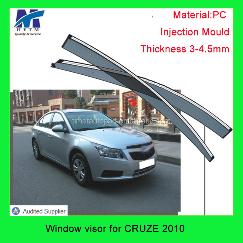 auto spare parts Injection mold PC/PMMA material window film for CRUZE 2010