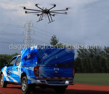 24hours hovering time intelligent tethered uav system with ground power