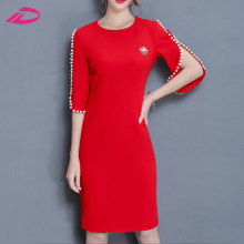 2017 Hot Sale Fashion Ladies OL Office Wear Work Formal Elegant casual Dress